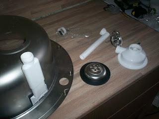 кухонная мойка с переливом - составные части