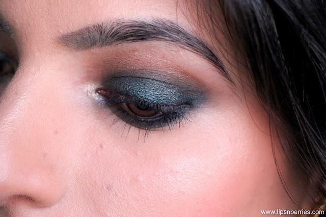 Smoky green eye on brown eyes
