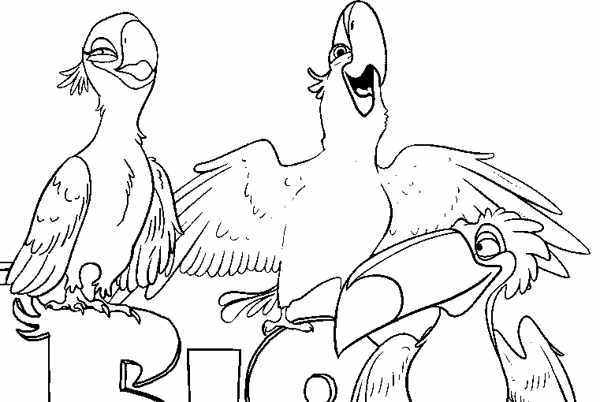 coloring pages for rio 2