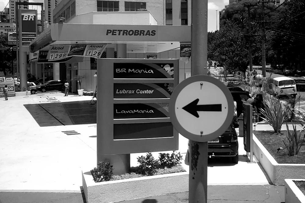 Posto de gasolina Petrobras em São Paulo