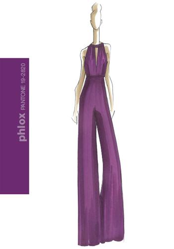 Есен 2011 дамска мода цвят флокс - тъмнолилаво