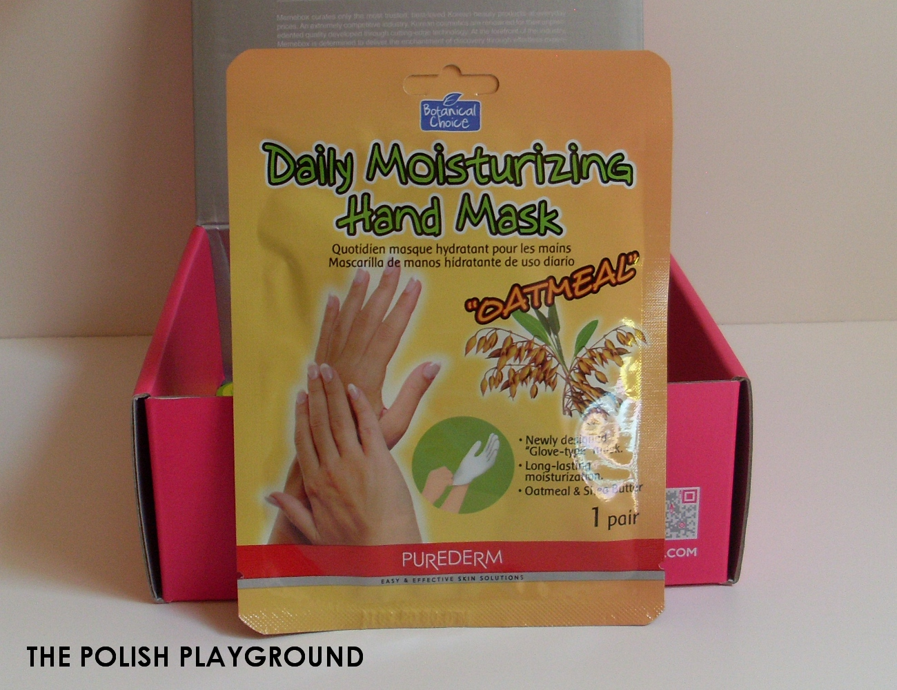 Memebox Special #6 Whole Grain Unboxing - Purederm Daily Moisturizing Hand Mask Oatmeal