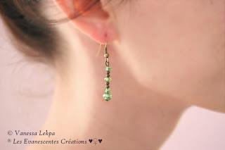 boucles d'oreille simple élégante Vanessa Lekpa evanescentes créations romantique sensuel poetique