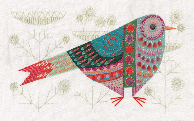 CUCKOO new embroidery kit from http://www.nancynicholson.co.uk/