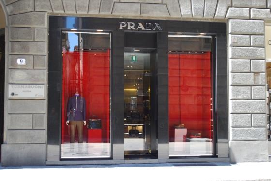 Schaufenster von Prada