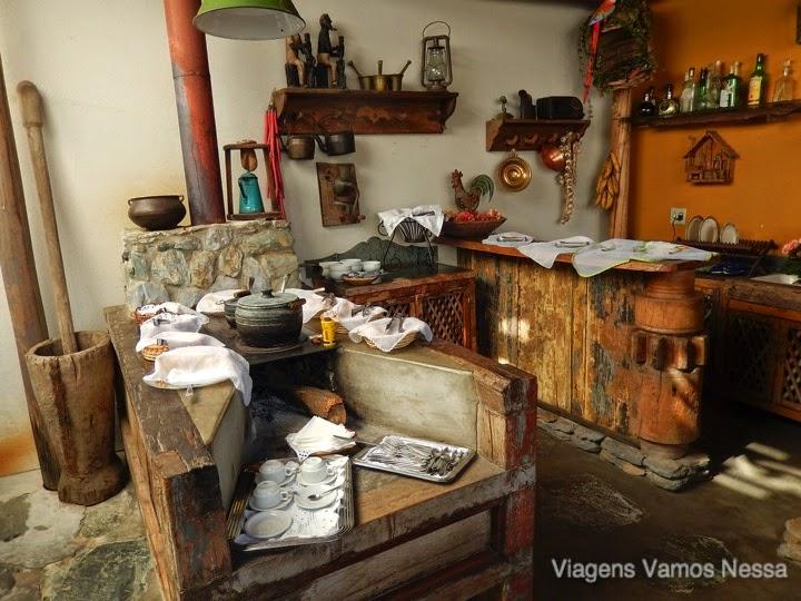 Café da manhã, Pousada Relíquias do Tempo, Diamantina MG