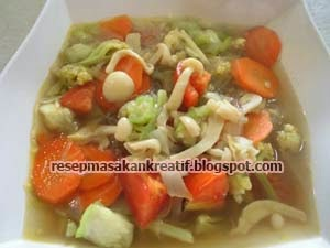Resep Sup Jamur Enoki