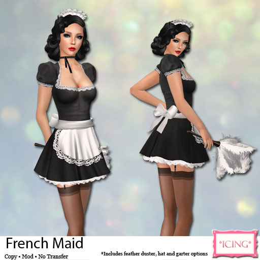 For This Lazy Sunday I Decided To Do A Costume That Feels Long Overdue Come Icing French Maid S Outfit Features Puffed Sleeves Short Skirt