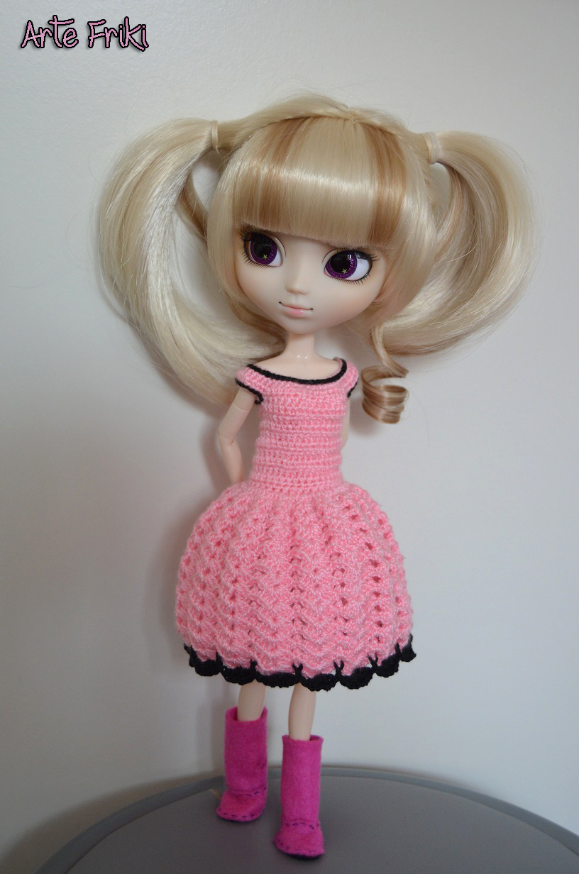 vestido crochet pullip blythe ganchillo dress