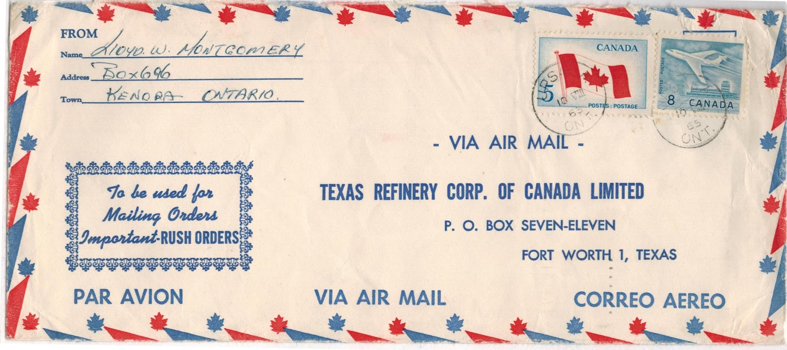 Mail A Letter 7 cents air mail letter rate