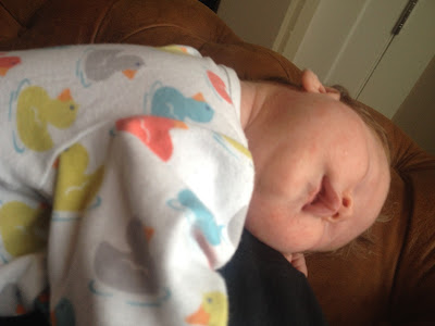 One week old baby