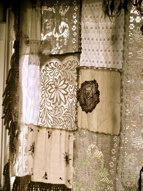 dishfunctional designs scrap lace curtain