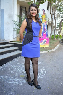 Actress Ester Noronha Pictures in Short Dress at Bullodu Movie Press Meet  0091