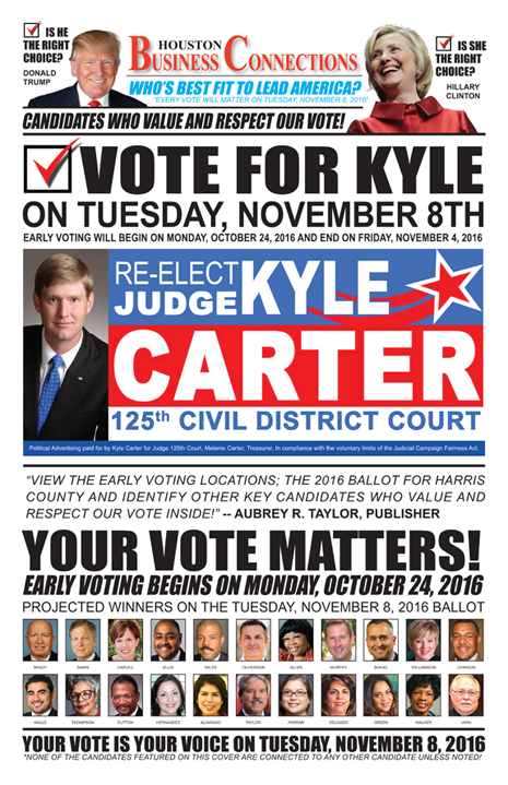 JUDGE KYLE CARTER VALUES OUR VOTE, SUPPORT AND COMMUNITY!
