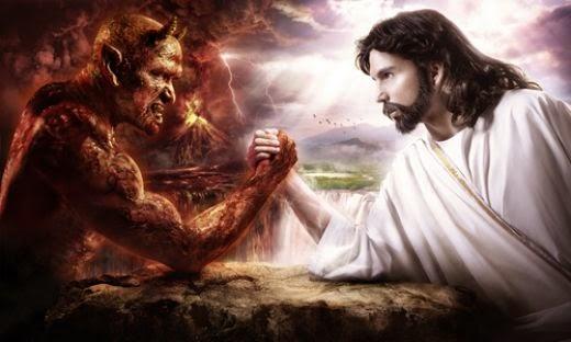 العابد والشيطان