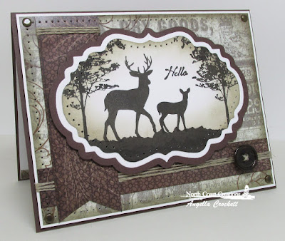 North Coast Creations Stamp sets: Deer Silhouette Greetings, Our Daily Bread Designs Custom Dies:  Vintage Labels, ODBD Vintage Ephemera Paper Collection