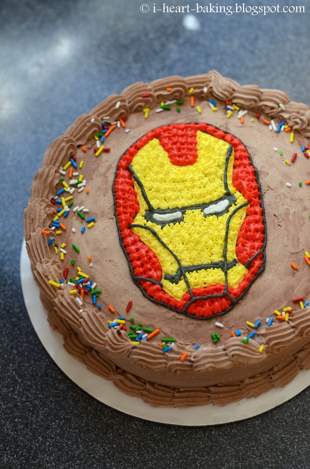 i heart baking!: iron man birthday ice cream cake
