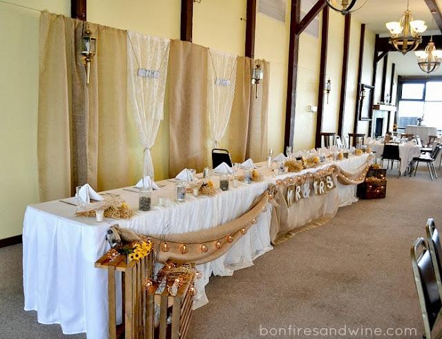 Bonfires And Wine Brie S Rustic Wedding Burlap Amp Lace