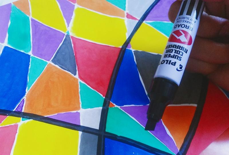 cubism art pilot broad marker