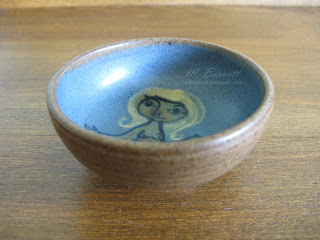 Dybdahl Danish pottery bowl with female nude