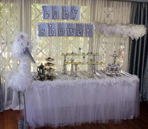 Cute Baby Shower Table.