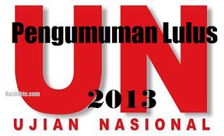 Hasil UN 2013 (Ujian Nasional) SMA, SMP, SD, MI, SLB