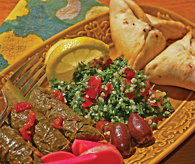 Grape Leaves, Tabouli, And Sfeehas (Spinach Turnovers) Recipes