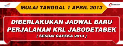 Jadwal KRL Jabodetabek (Jakarta, Bogor,Depok, Tangerang, Bekasi, Serpong, Maja) per 1 April 2013