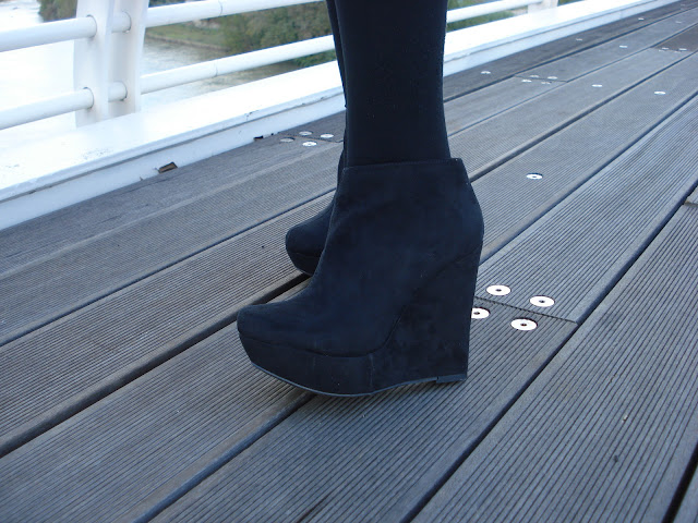 fashion blogger roma, zeppe primark, primark ankle boots, primark wedge,