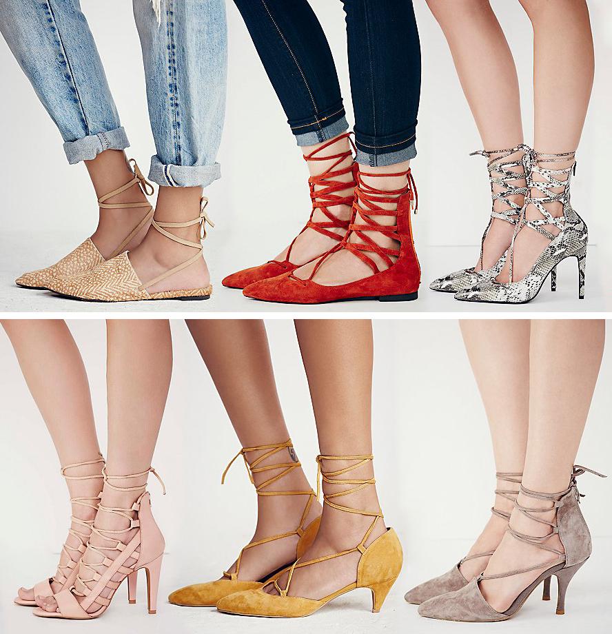 Lace Kitten Heel Shoes