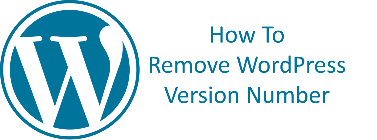 How To - Remove Your WordPress Build Number