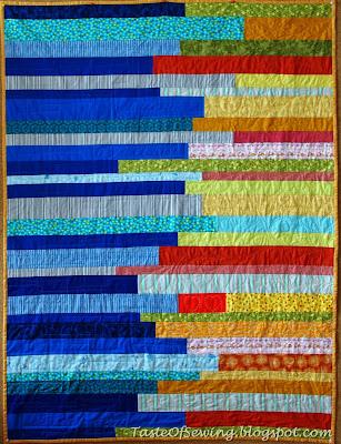 лоскутное одеяло из полос на свадьбу wedding stripe quilt