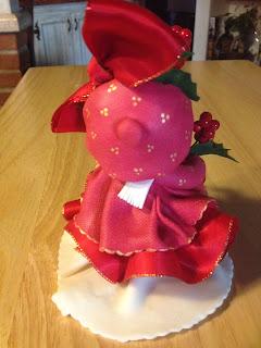 bambola aghifoglio natalizia