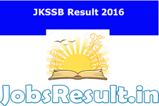 JKSSB Result 2016