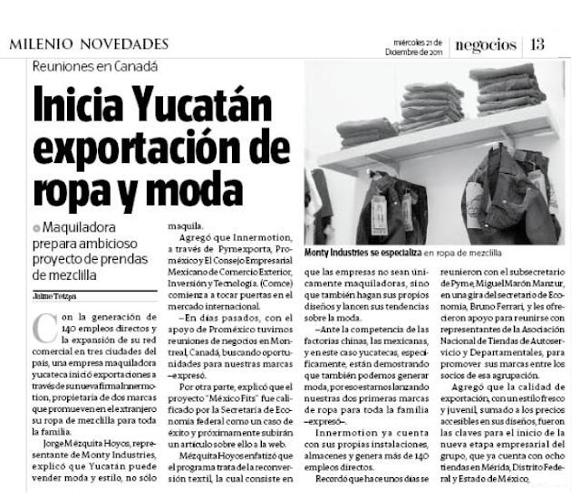 Noticias pymexporta enero 2012 for Entradas 4 milenio