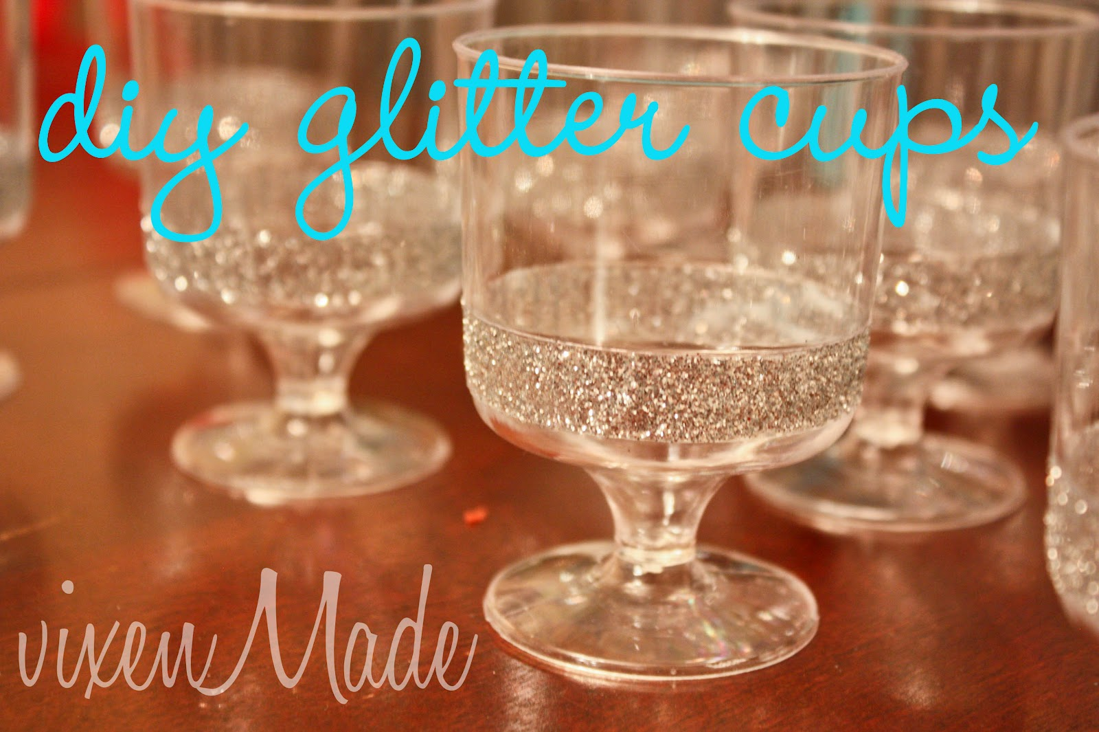 Decorating Plastic Tumblers Diy Glitter Cups Vixenmade Parties