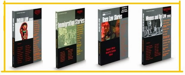 covers from four Law Stories books