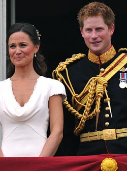 Prince Harry flirts with Kate's sister