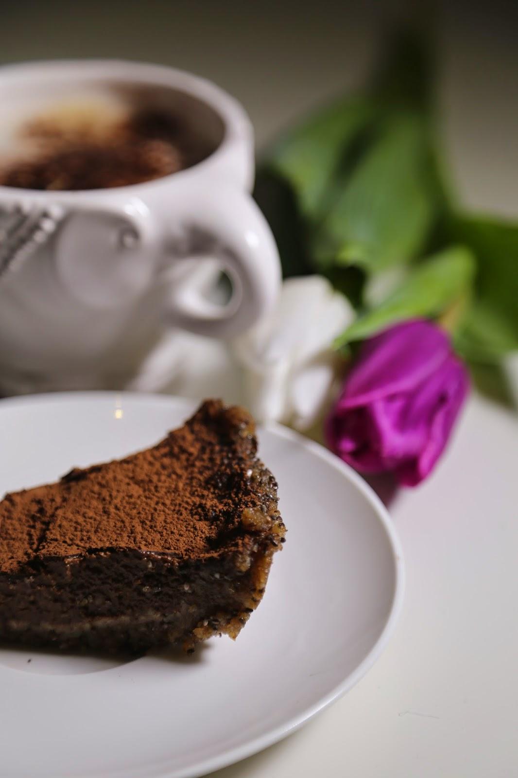 Chocolate banana tart / Tarta czekoladowo bananowa