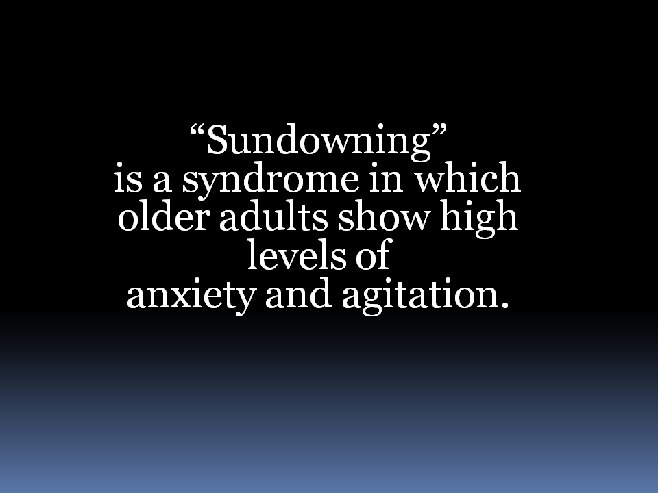 Sundowning definition