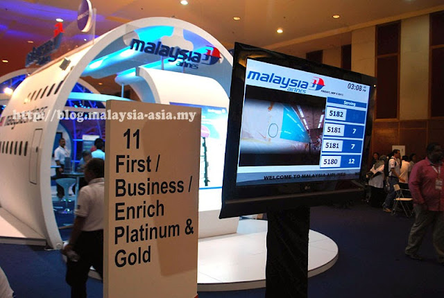 Malaysia Airlines with their numbering system for buying Matta Fair Promotion Tickets