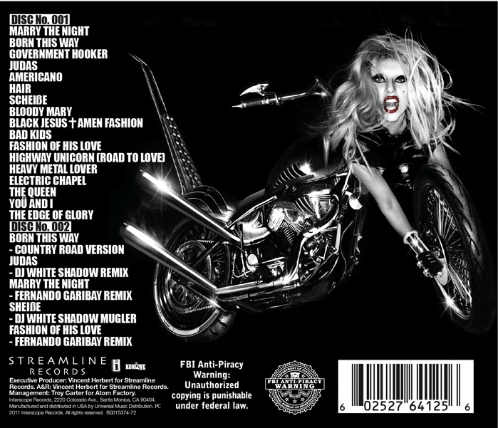 lady gaga born this way album leak download. our lady Lady