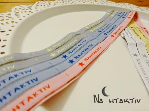 Namensbaender Webnamen Label zum Einnähen Nähen Stoff Nahtaktiv