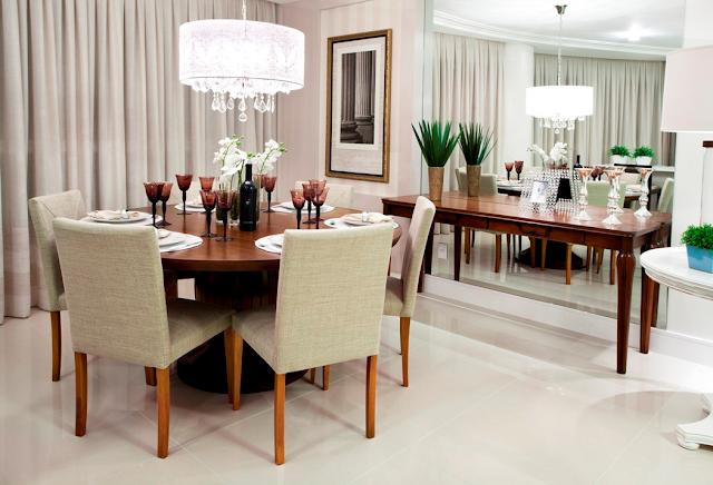 lustre mesa de jantar redonda