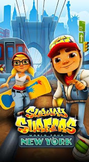 Screenshots of the Subway surfers: World tour New York for Android tablet, phone.