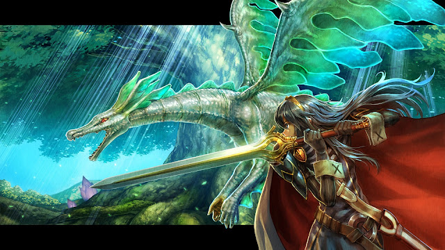 dragon knight female girl sword armor anime original tree cape hd wallpaper desktop pc wallpaper a78