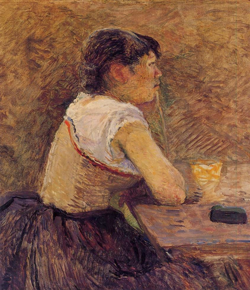 Henri de Toulouse-Lautrec, Buveuse d'absinthe, à Grenelle (1886)