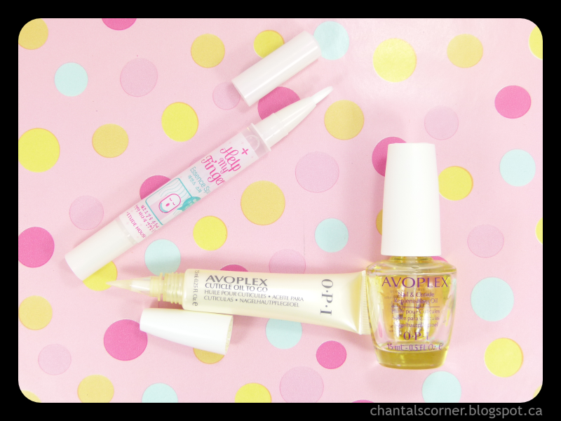 Chantal's Corner's cuticle care essentials: OPI Avoplex and Etude House