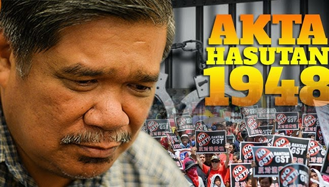 SEDITION ACT:UMNO COWARD!  ABUSE OF POWER USING POLICE AS  FORTRESS 2 SUSTAIN POWER!!