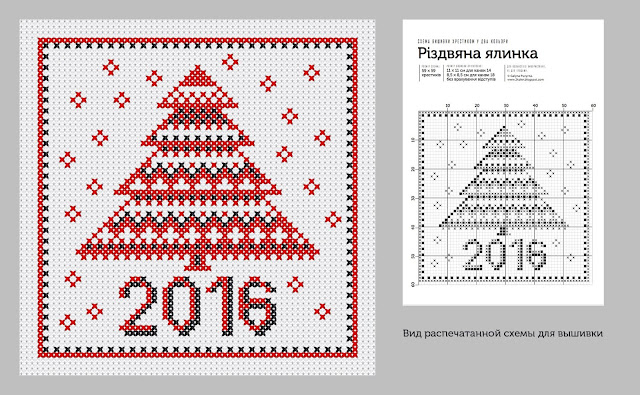 xmas tree cross stitch pattern